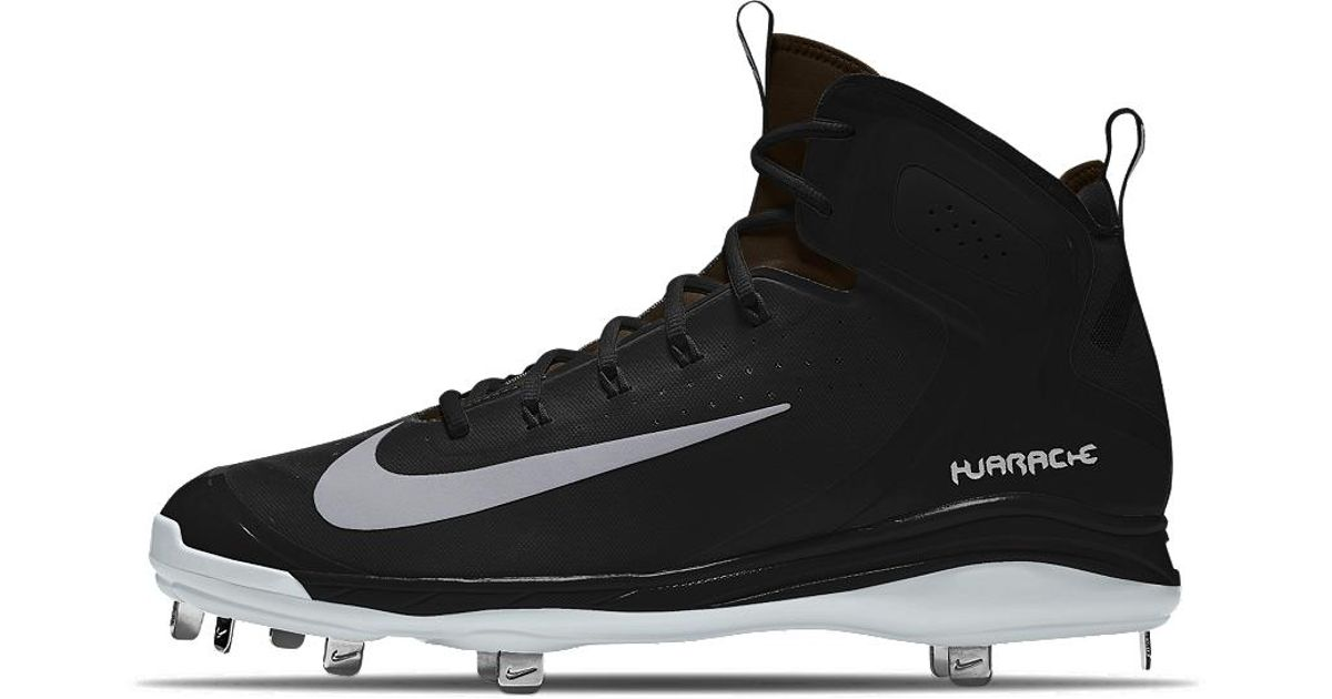 new concept 6cd3f 2396c ... sweden lyst nike alpha huarache elite mid metal id mens baseball cleats  in black for men