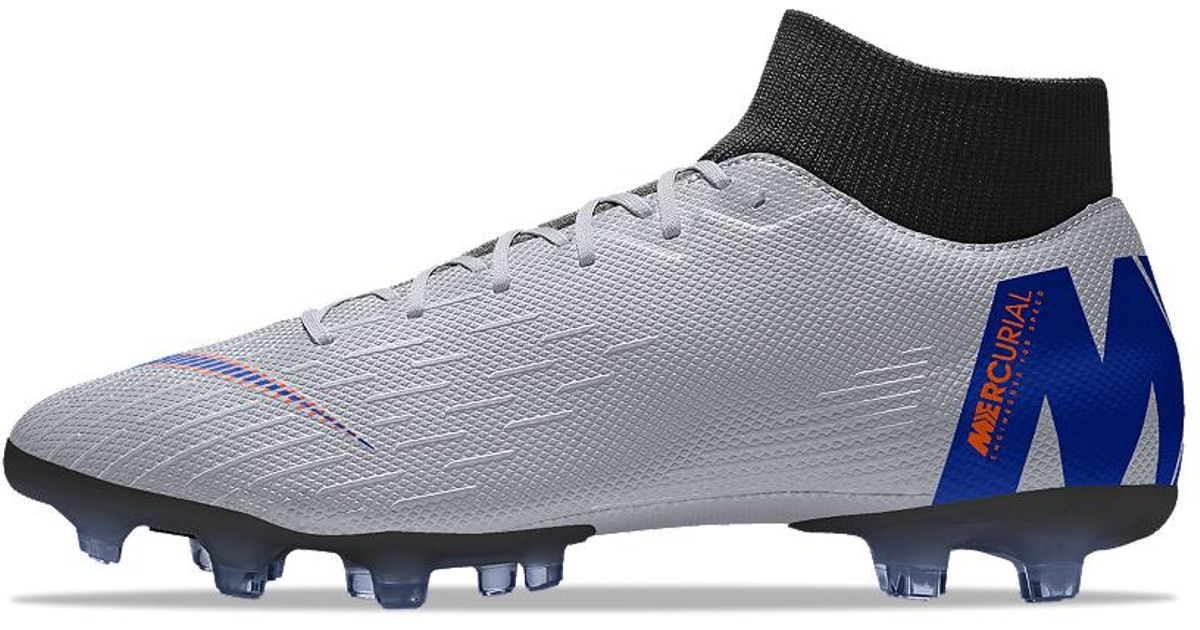 sports shoes f16db 690f9 Lyst - Nike Mercurial Superfly Vi Academy Mg Id Multi-ground Soccer Cleats  in Gray for Men