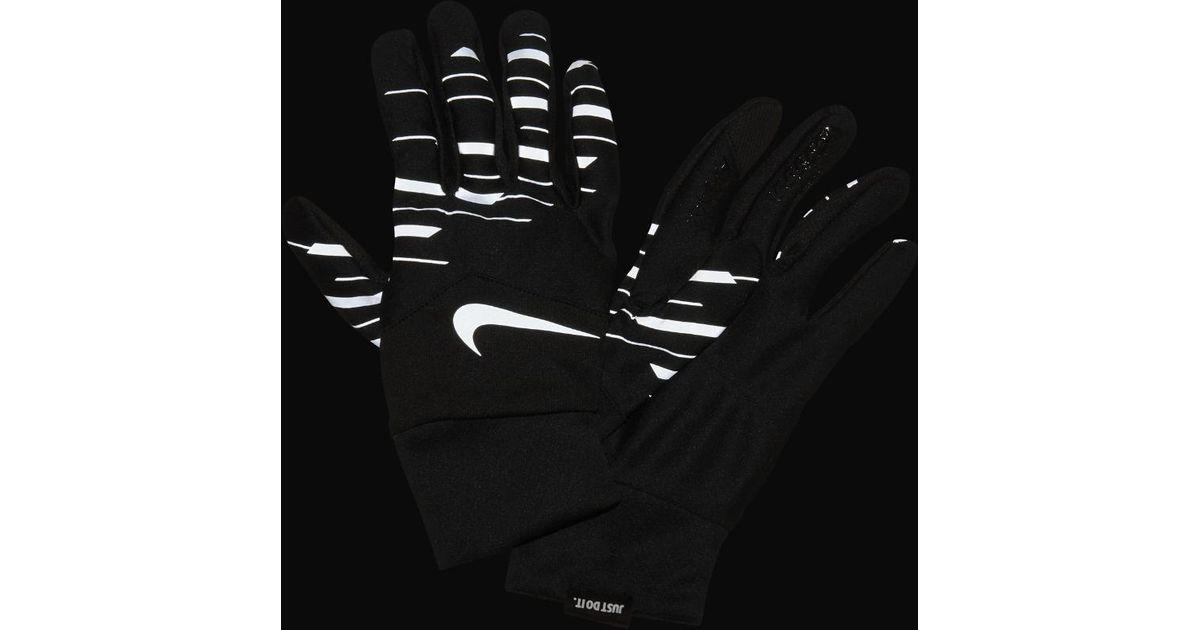 timeless design ccb39 b47a7 Lyst - Nike Dri-fit Tempo 360 Flash Run Printed Mens Running Gloves in  Black for Men