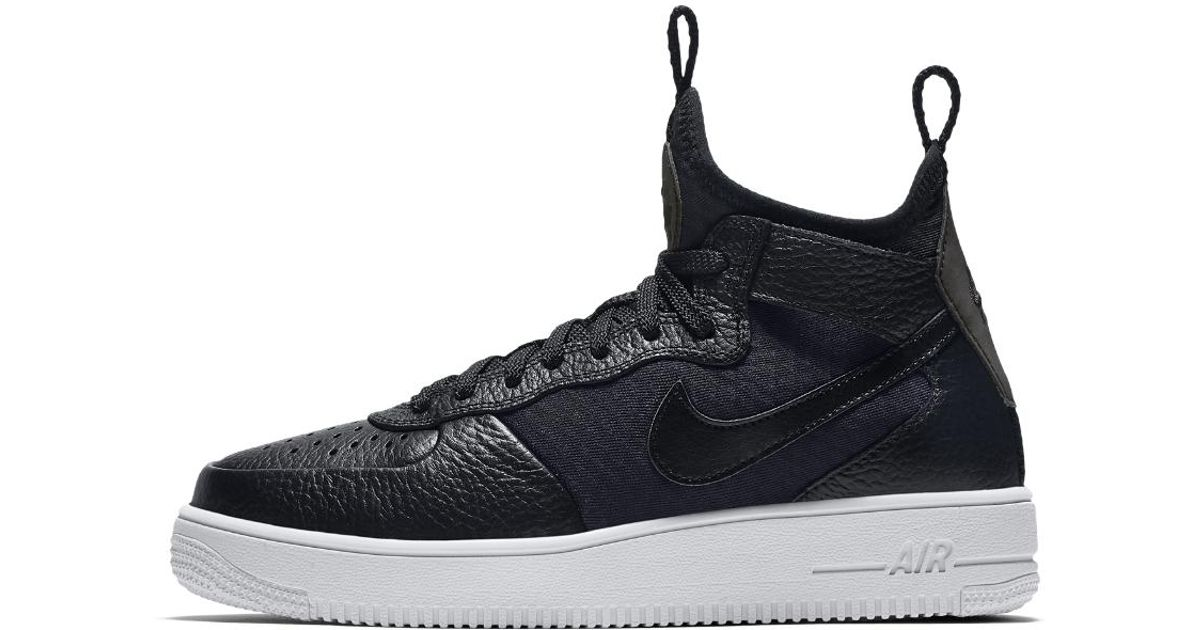 size 40 a7813 08a4a Lyst - Nike Air Force 1 Ultraforce Mid Womens Shoe in Black