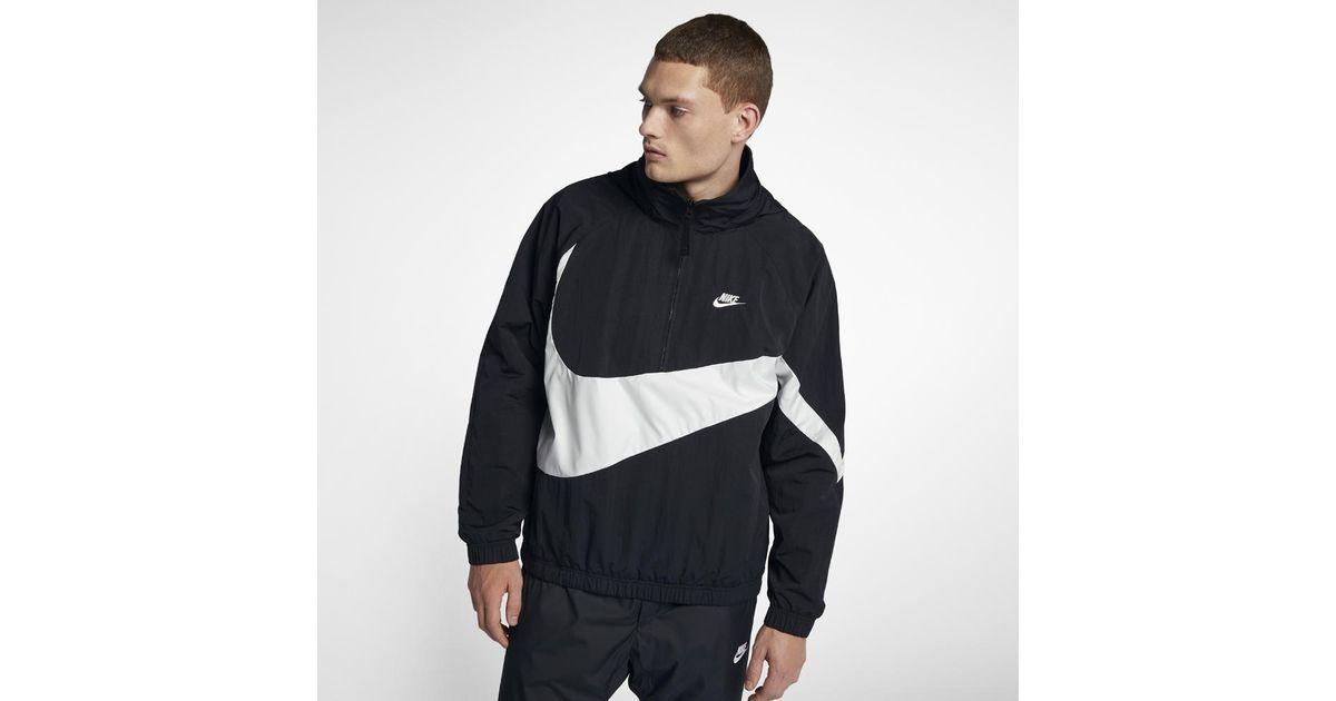 Lyst - Nike Sportswear Anorak Men s Jacket in Black for Men 375a3b539