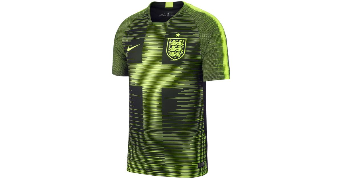 cheap for discount 40006 123be Nike England Stadium 2018 19 Pre-match Football Shirt in Yellow for Men -  Lyst