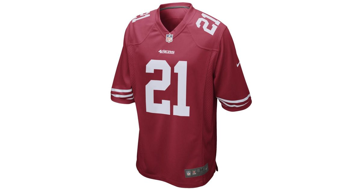brand new dee16 5e10d Nike - Red Nfl San Francisco 49ers Game Jersey (deion Sanders) Football  Jersey for Men - Lyst