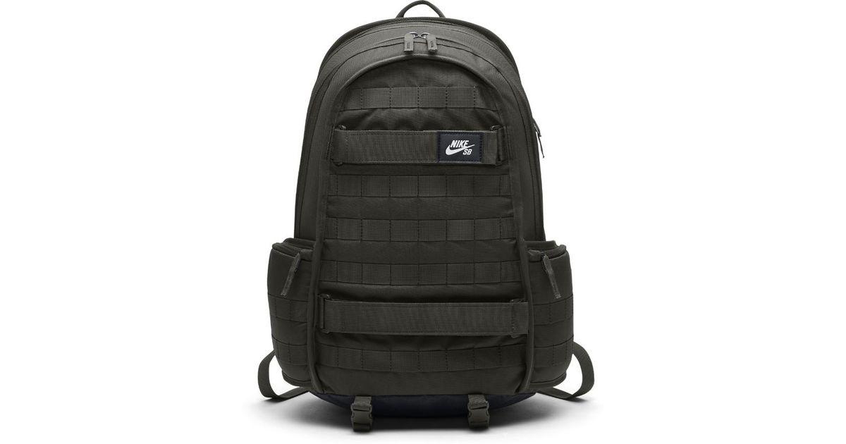 ab839660c Lyst - Nike Sb Rpm Skateboarding Backpack (olive) in Black for Men