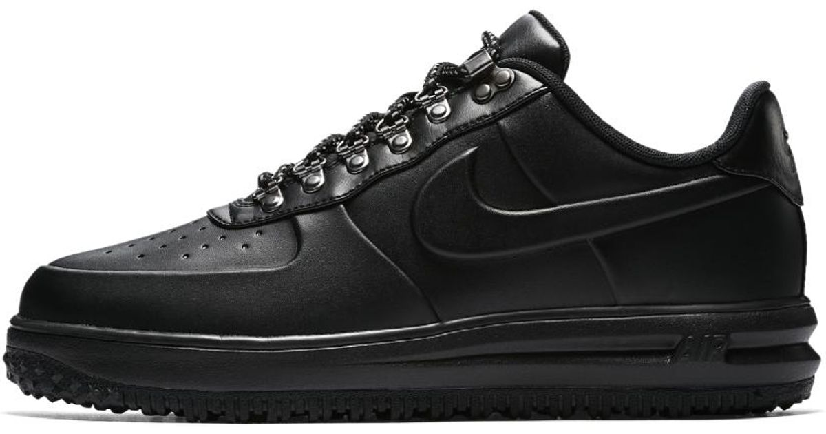 new concept c8094 7ac98 ... closeout lyst nike lunar force 1 duckboot low mens shoe in black for  men 649ea dd1cb ...