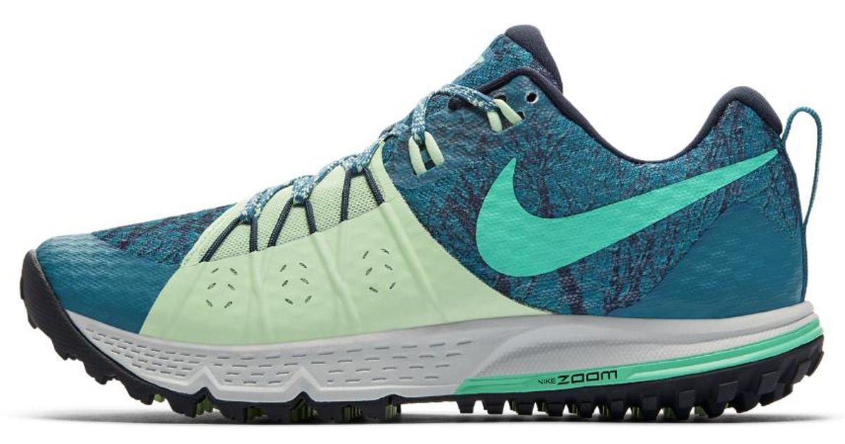 934cda9b663 Lyst - Nike Air Zoom Wildhorse 4 Women s Running Shoe in Green
