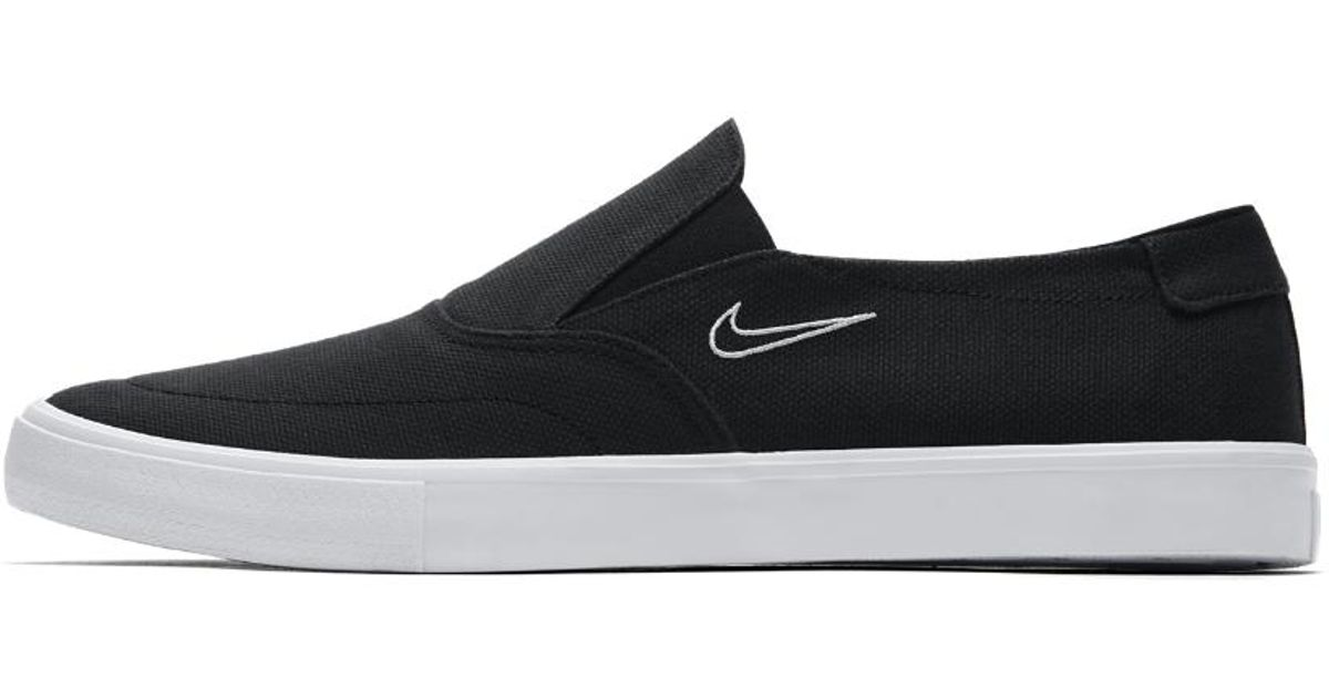 fa1fa6cc12dc ... coupon for lyst nike sb portmore ii solarsoft slip on mens  skateboarding shoe in black for