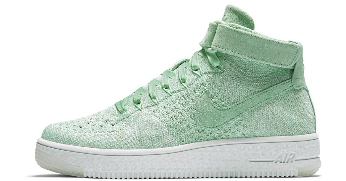 new product 10841 d6c4d Nike - Green Air Force 1 Ultra Flyknit Women's Shoe - Lyst