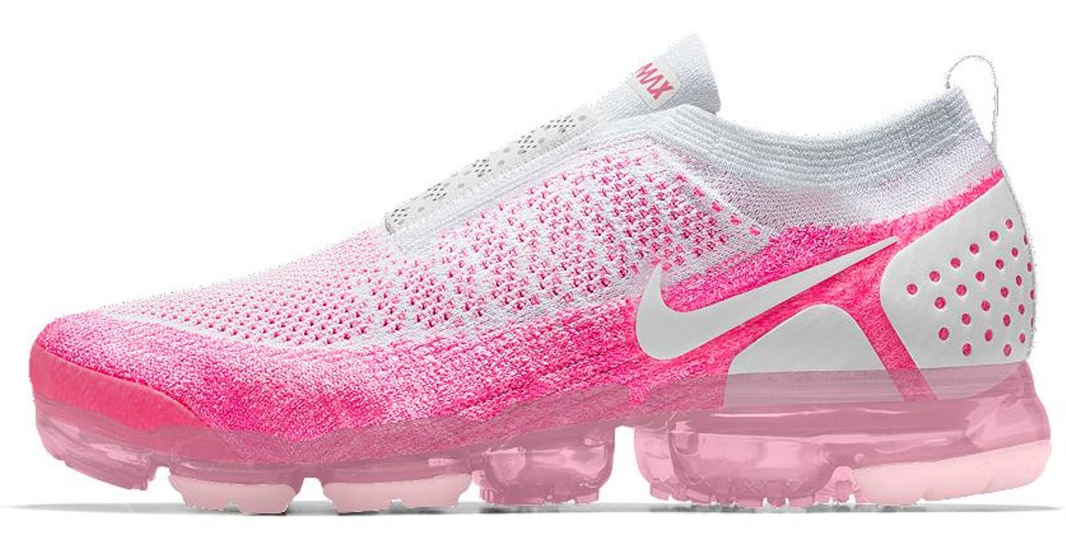 newest collection 29ff0 727c0 Lyst - Nike Air Vapormax Flyknit Moc 2 Id Women s Running Shoe in Pink