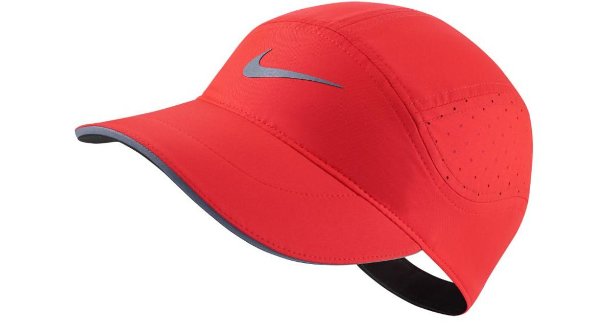 1c5799db397 ... best price lyst nike aerobill running hat red in red 7dd2f e8be0