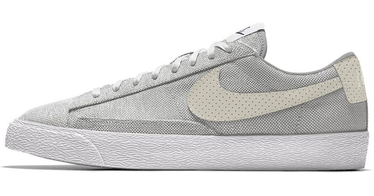san francisco b886d 1f551 Lyst - Nike Blazer Low Premium Id Mens Shoe in White for Men