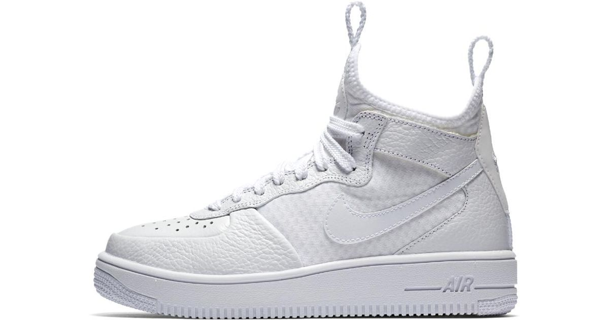 online retailer dc57e c7c23 Lyst - Nike Air Force 1 Ultraforce Mid Womens Shoe in White