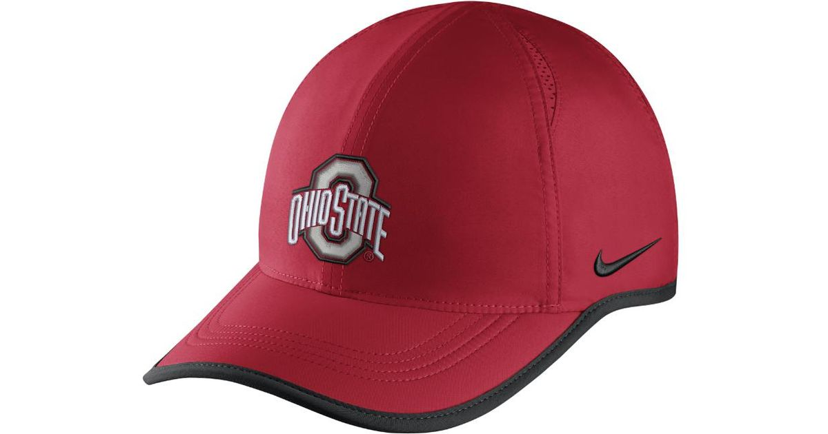 16c27ecad1c Lyst - Nike College Aerobill Featherlight (ohio State) Adjustable Hat (red)  - Clearance Sale in Red for Men