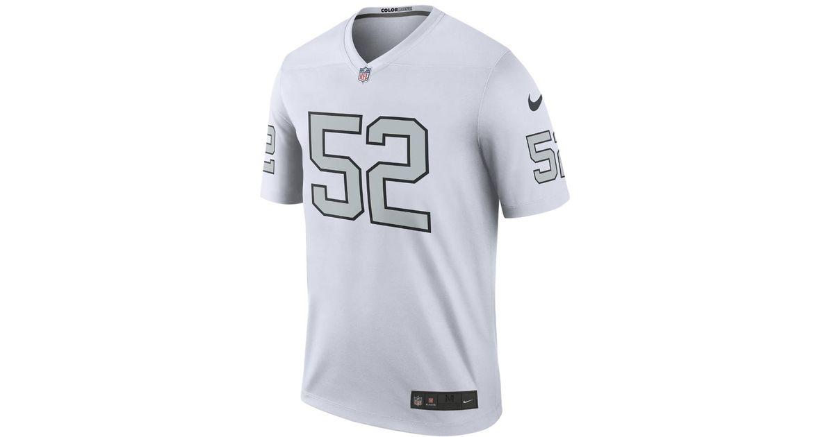 39c8d358e Lyst - Nike Nfl Oakland Raiders Color Rush Legend (khalil Mack) Men s  Football Jersey in White for Men