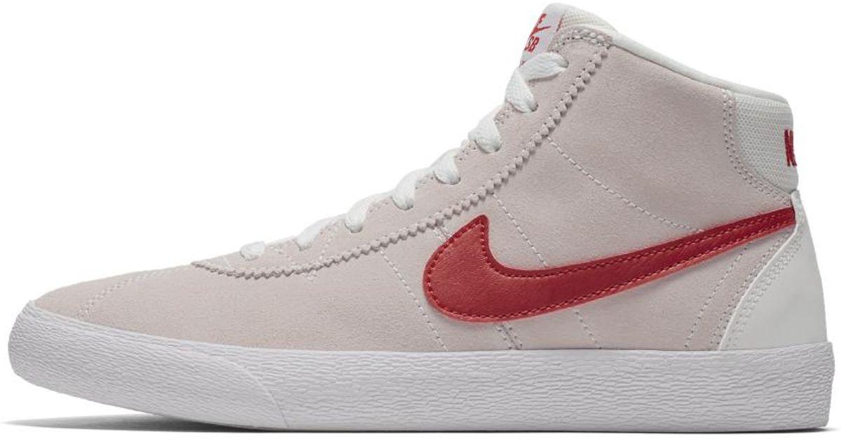 low priced 03373 e1693 Lyst - Nike Sb Bruin High Womens Skateboarding Shoe in White