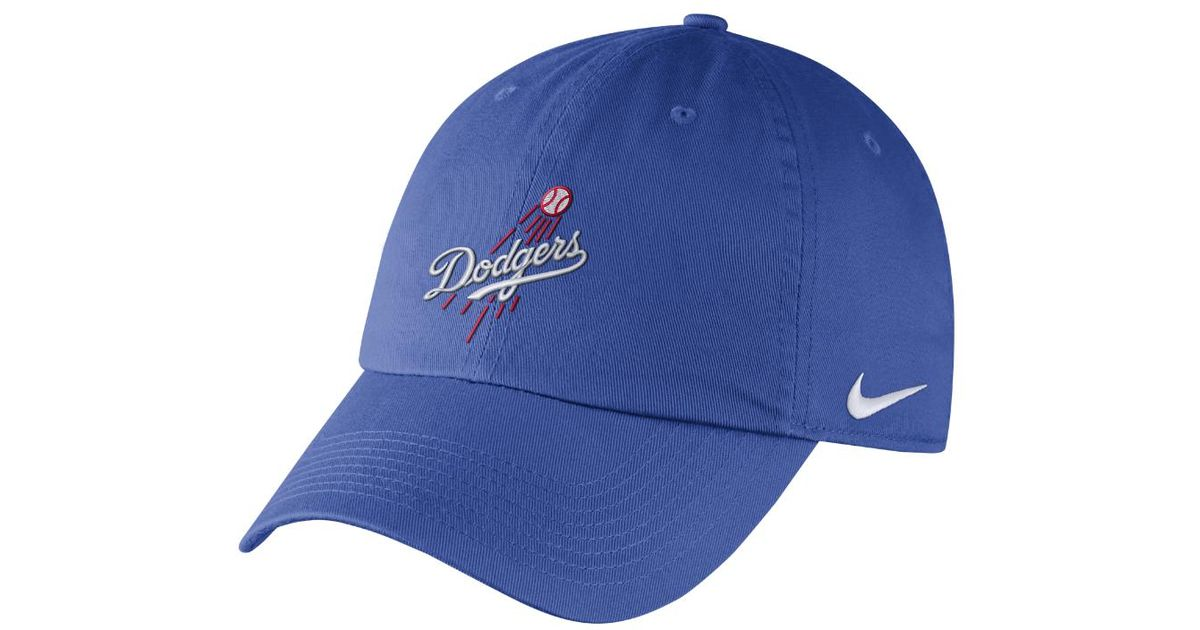 85e23c2d242 Lyst - Nike Dry H86 Stadium (mlb Dodgers) Adjustable Hat (blue) in Blue for  Men