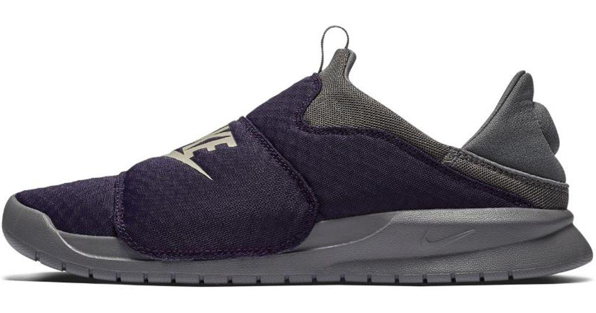 17e00c1666d Lyst - Nike Benassi Slip Shoe in Purple for Men