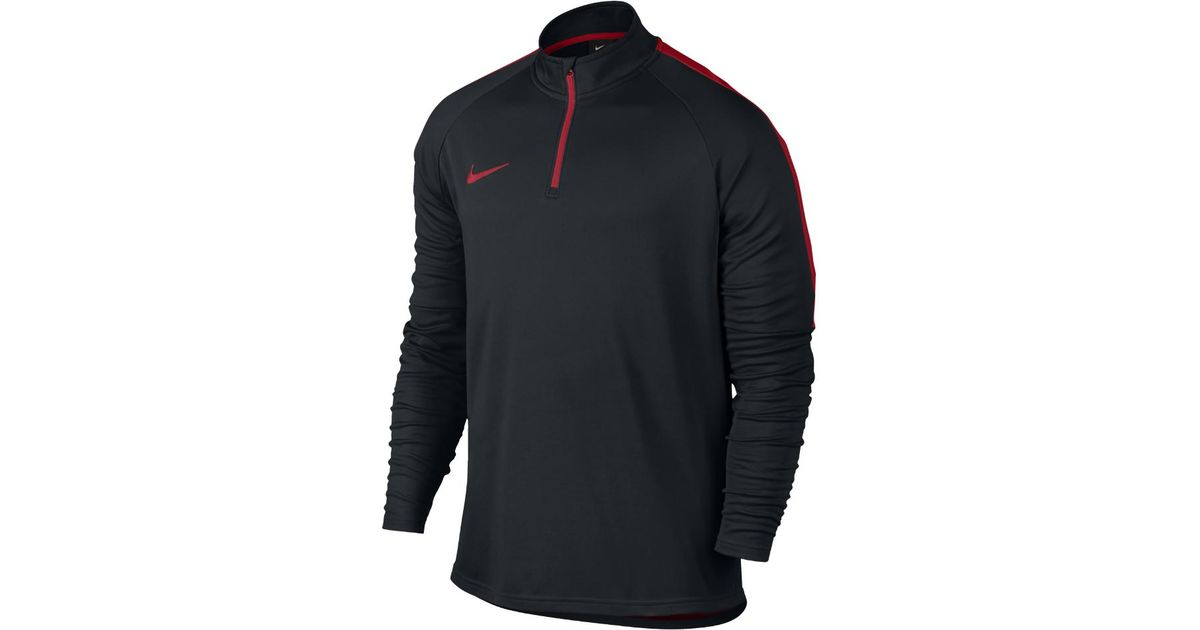 691078af44f7 Lyst - Nike Dry Academy Men s 1 4 Zip Soccer Drill Top in Black for Men