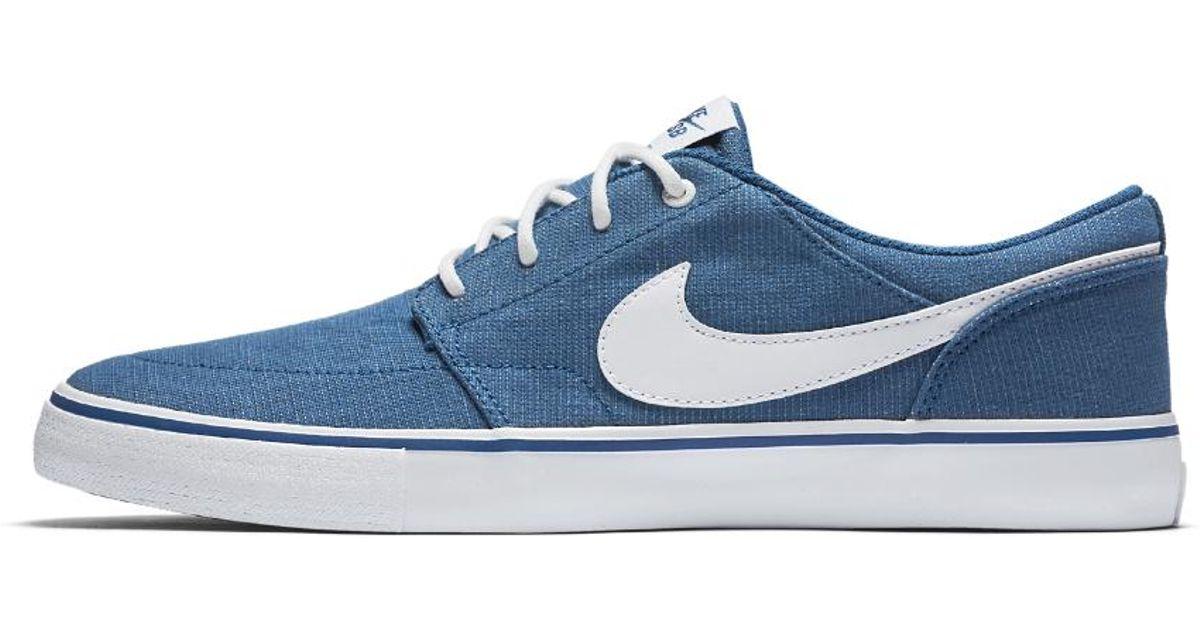 268b465e372fa Nike Sb Solarsoft Portmore Ii Canvas Premium Men's Skateboarding Shoe in  Blue for Men - Lyst
