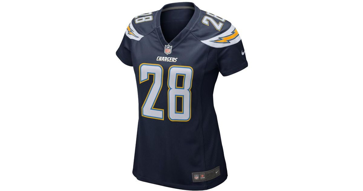 superior quality d3c3b 73a6e Nike - Blue Nfl Los Angeles Chargers (melvin Gordon) Women's Football Home  Game Jersey - Lyst
