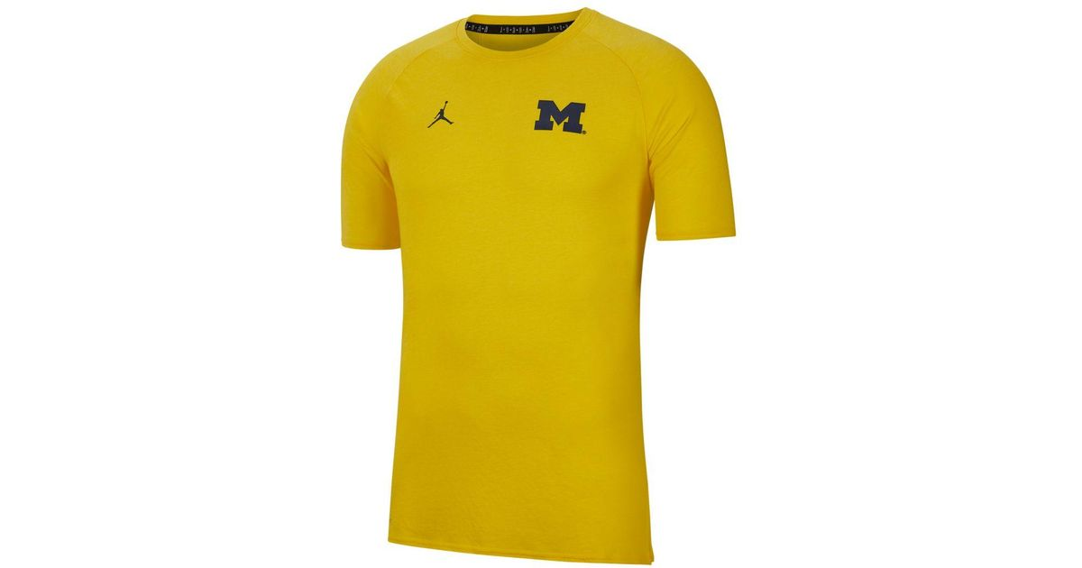 c716e24a Nike Jordan Dri-fit 23 Alpha (michigan) Training Top in Yellow for Men -  Lyst