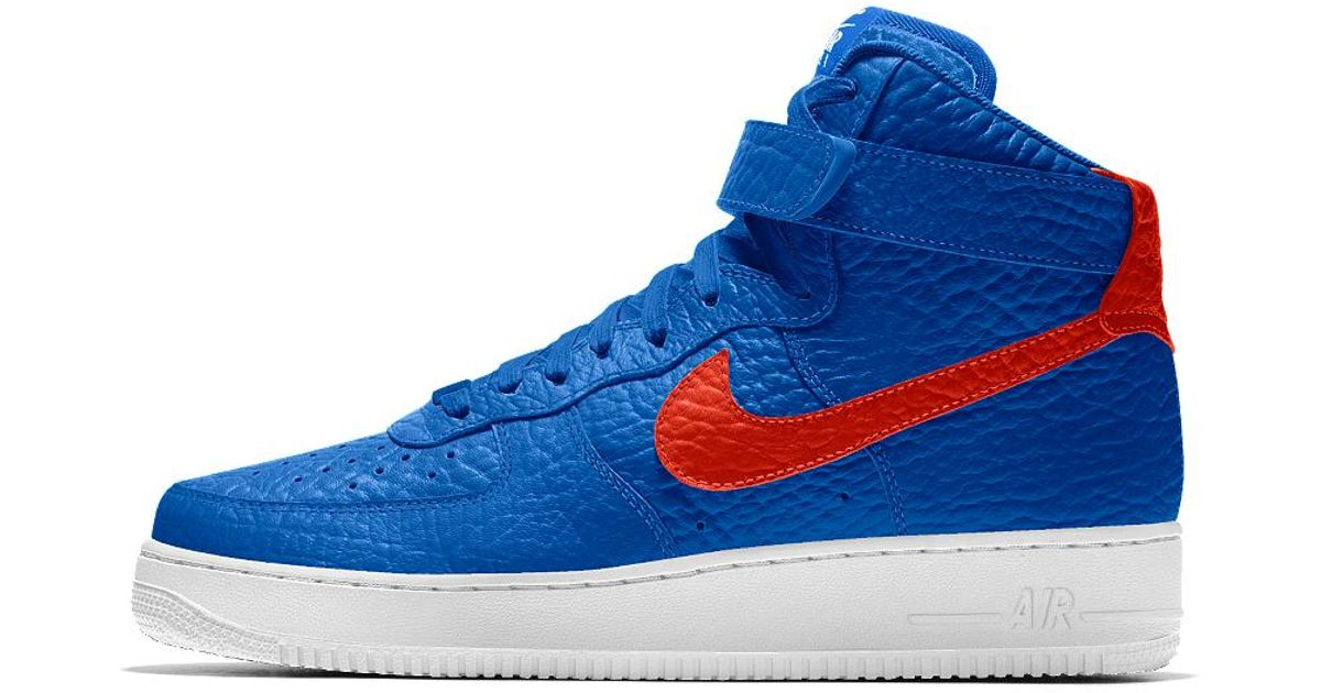 new arrival b7056 441c2 ... inexpensive lyst nike air force 1 high premium id oklahoma city thunder  mens shoe in blue