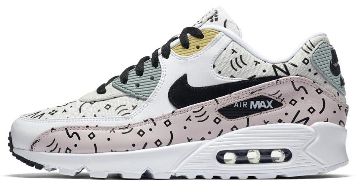 reputable site a8162 12d91 Nike Air Max 90 Premium Men's Shoe in White for Men - Lyst