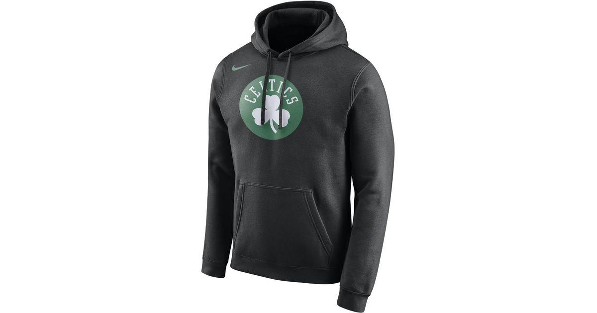 0687752f1 Lyst - Nike Boston Celtics Men s Fleece Nba Hoodie in Black for Men