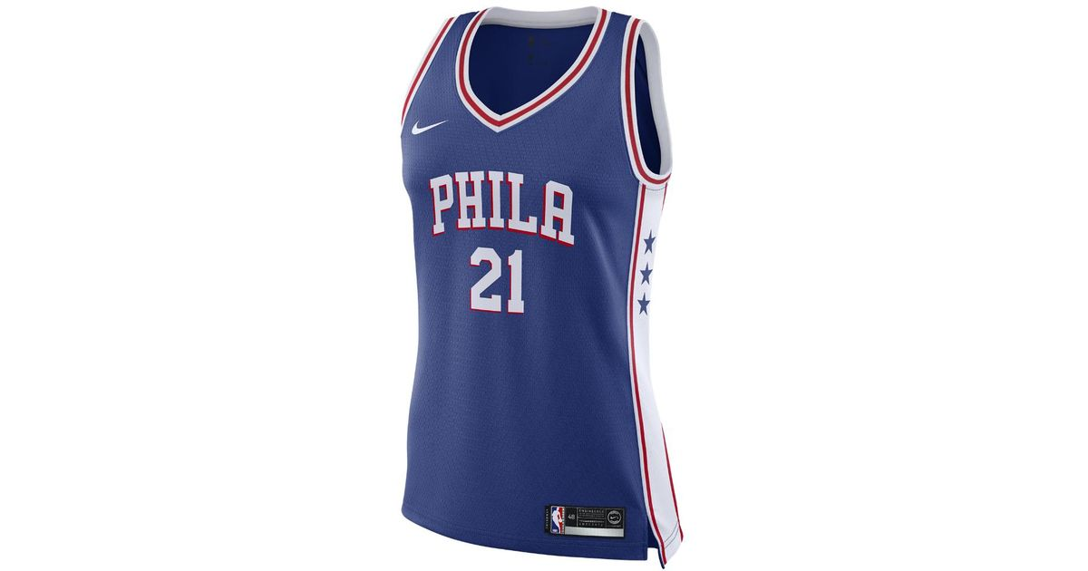 Lyst - Nike Joel Embiid Icon Edition Swingman Jersey (philadelphia 76ers)  Women s Nba Connected Jersey in Blue 5bed3faa93