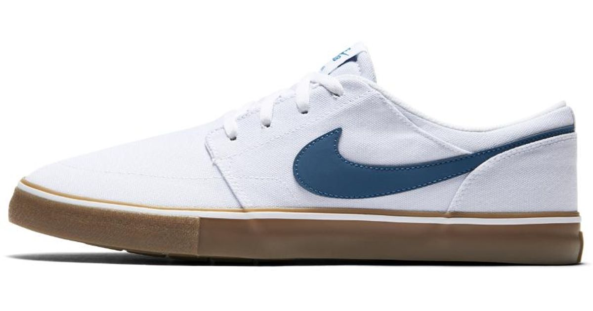 ba3cb15d8711 Lyst - Nike Sb Solarsoft Portmore Ii Canvas Men s Skateboarding Shoe in Blue  for Men