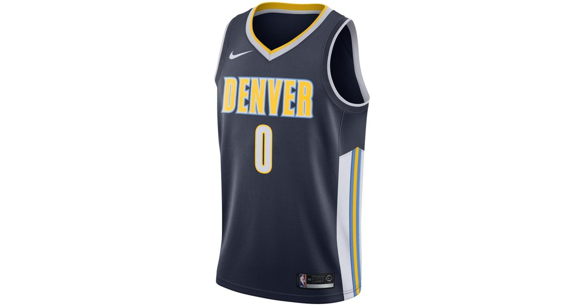 Nike Emmanuel Mudiay Icon Edition Swingman Jersey (denver Nuggets) Nba  Connected Jersey in Blue for Men - Lyst f5b2a23f4