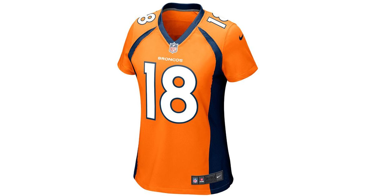 3395a40de62 Lyst - Nike Nfl Denver Broncos (peyton Manning) Women s Football Home Game  Jersey in Orange