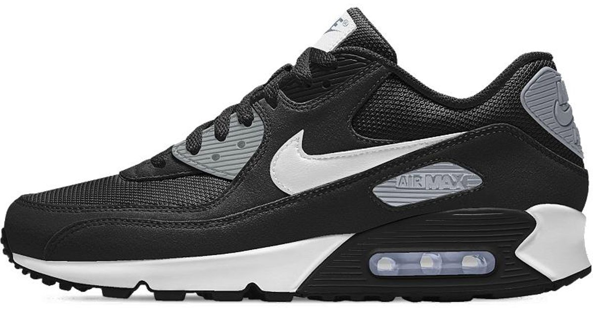 cheap for discount 12bb3 48208 nike air max 90 id men s Lyst - Nike Air Max 90 Essential Id Men s Shoe in  Black for Men