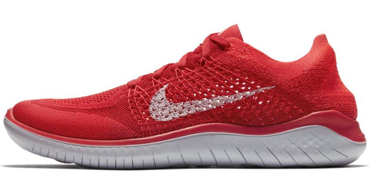 Lyst - Nike Free Rn Flyknit 2018 Men s Running Shoe in Red for Men f34498280