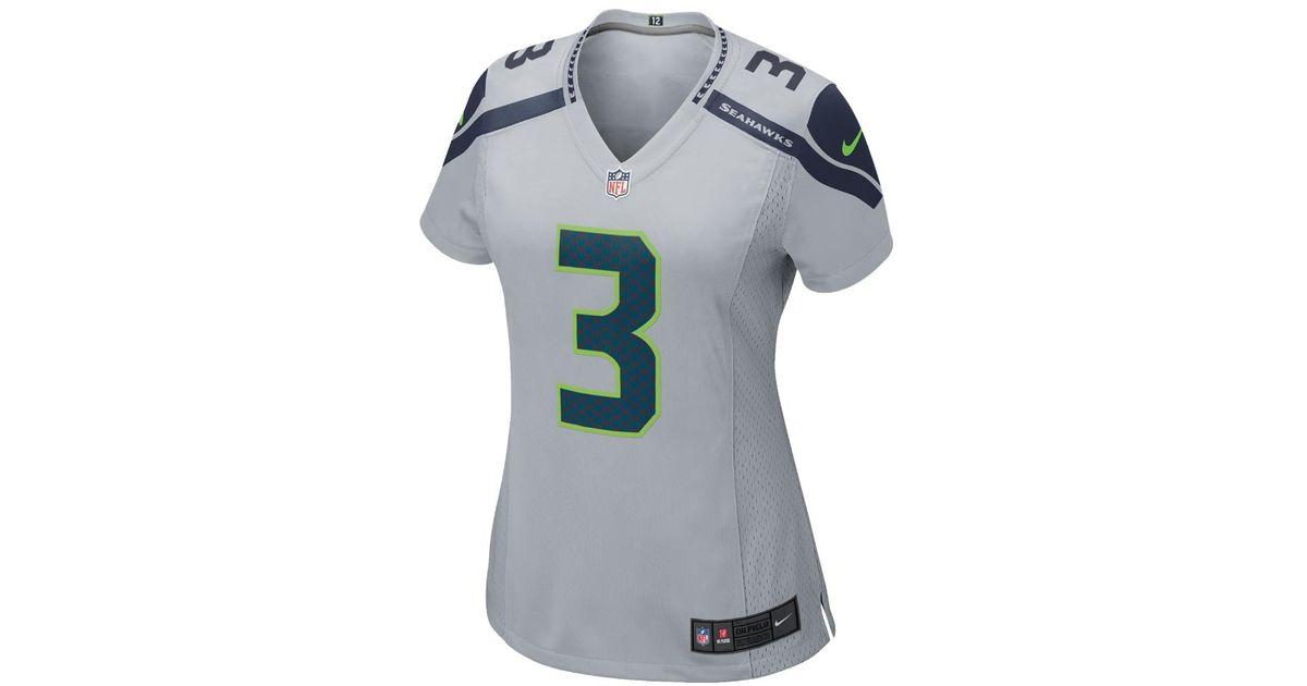 Lyst - Nike Nfl Seattle Seahawks (russell Wilson) Women s Football  Alternate Game Jersey in Gray 1493ef2c1