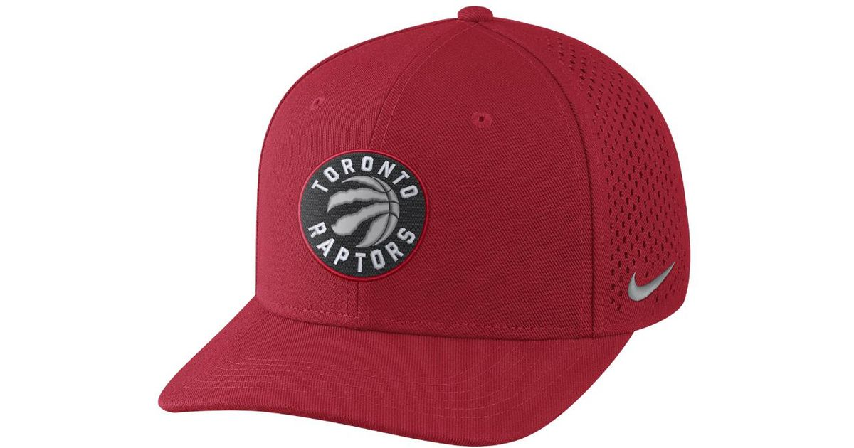 10b8a87abd8 ... new arrivals lyst nike toronto raptors aerobill classic99 adjustable  nba hat red clearance sale in red