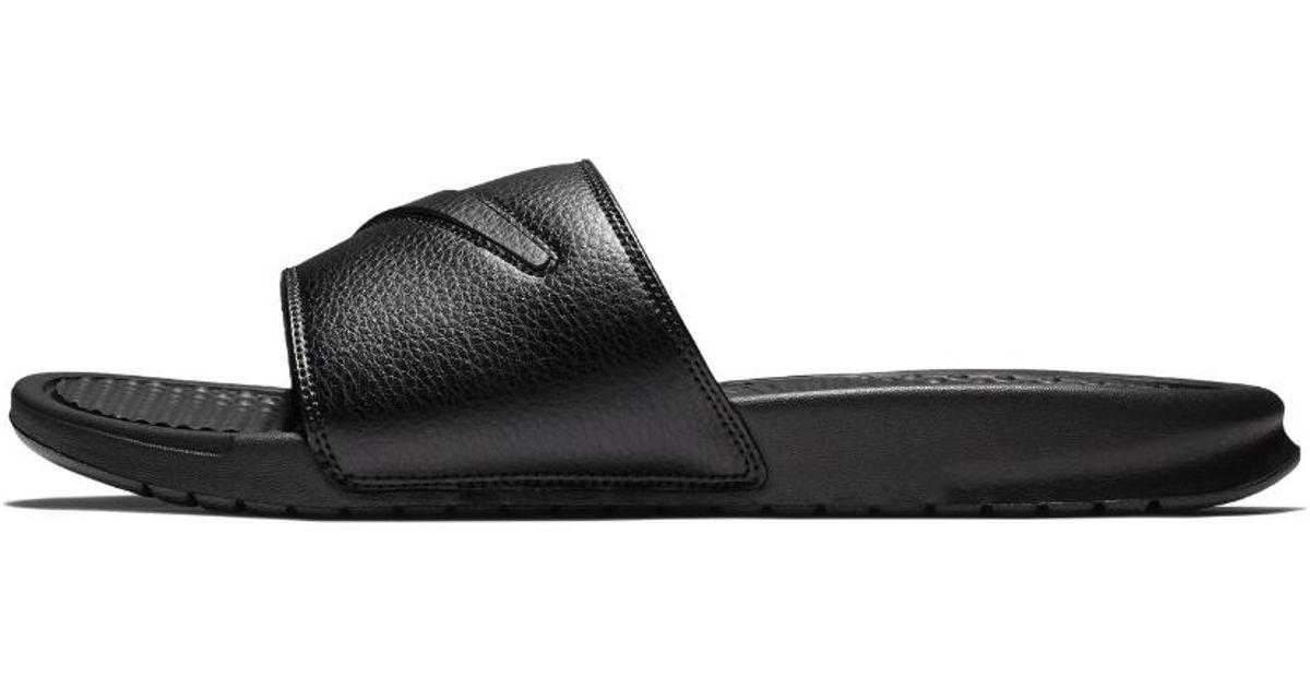 info for 3a44c 5553b Nike Benassi Jdi Ltd Men s Slide Sandal in Black for Men - Lyst