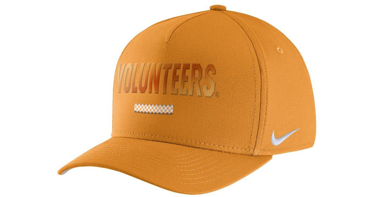 1d730614e91 Lyst - Nike College Classic 99 Swoosh Flex (tennessee) Fitted Hat in Orange  for Men