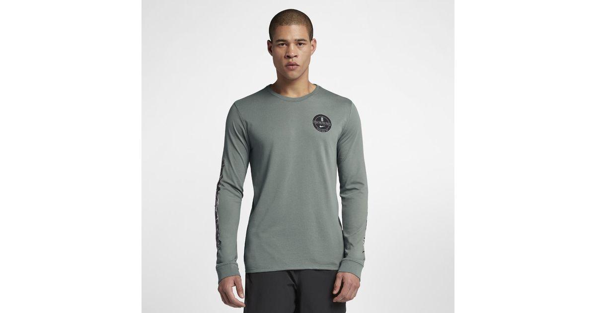 cbf11c65 Nike Dri-fit Kyrie Men's Long Sleeve Basketball T-shirt in Green for Men -  Lyst