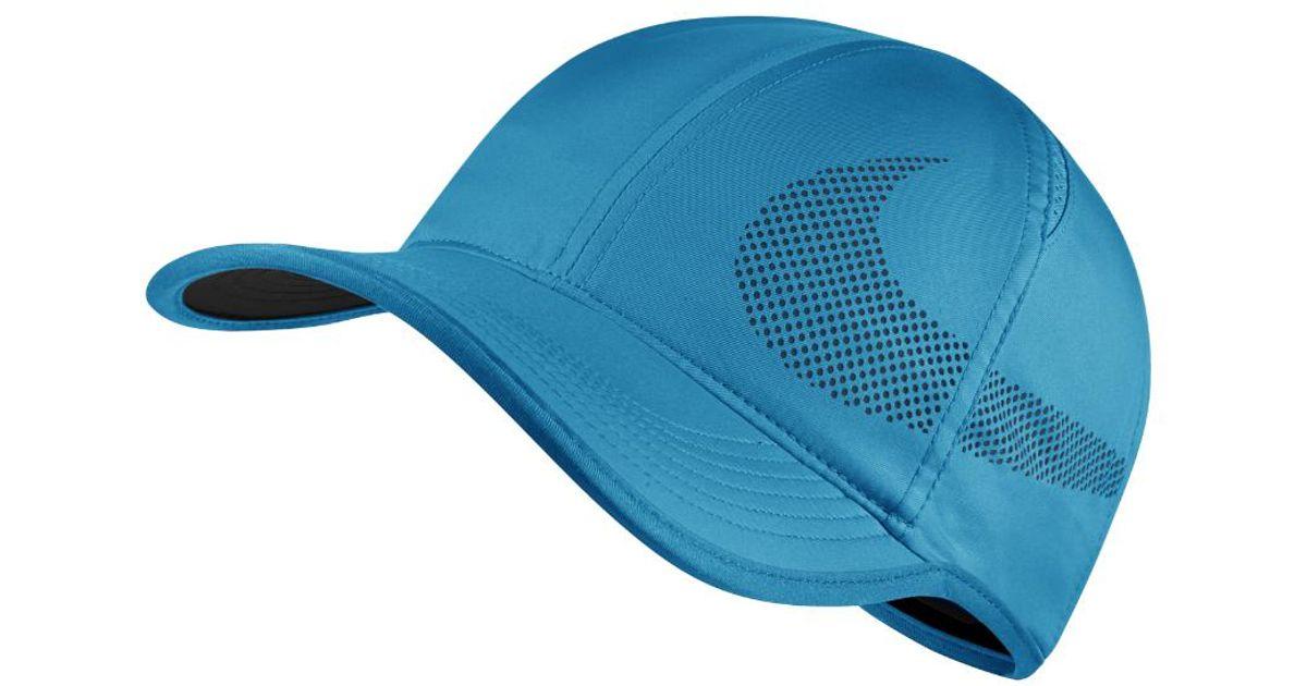 7457cfa458f Lyst - Nike Court Aerobill Featherlight Adjustable Tennis Hat (blue) in Blue  for Men