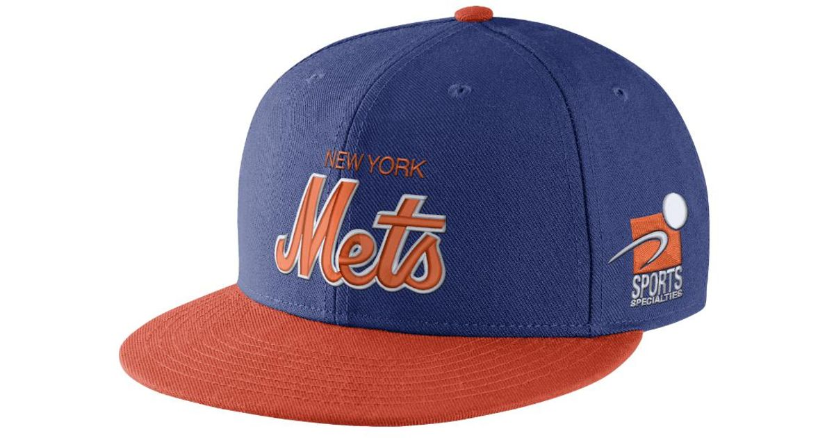 brand new 8aa31 333ab Lyst - Nike Pro Sport Specialties (mlb Mets) Adjustable Hat (blue) in Blue  for Men