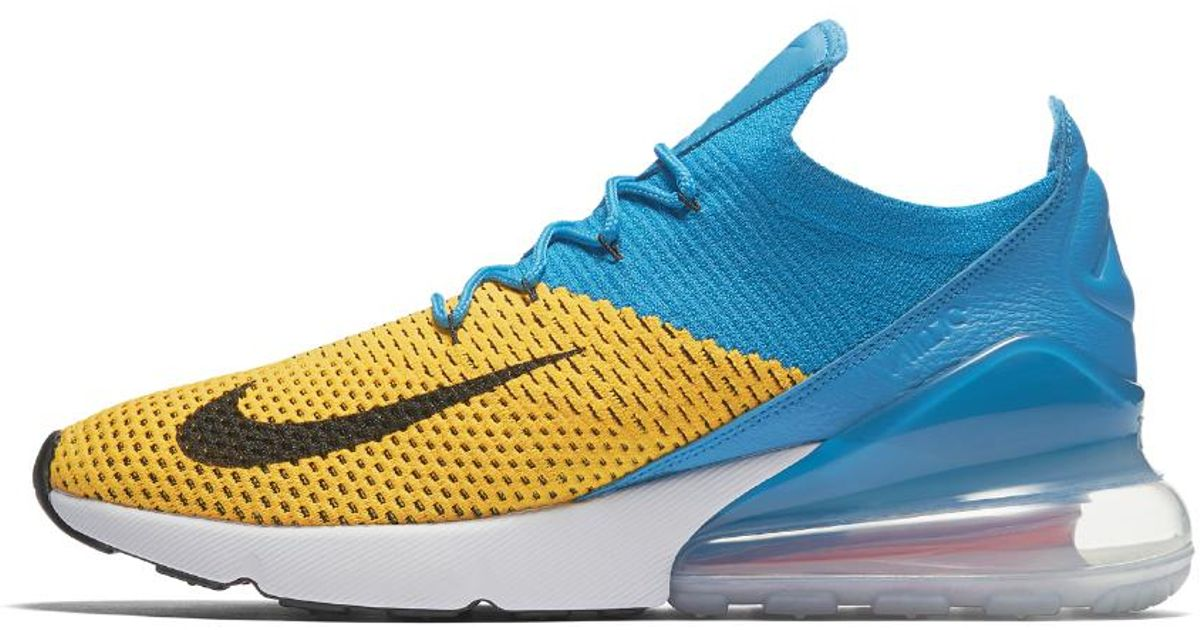 48da416f5d Nike Air Max 270 Flyknit in Blue for Men - Save 18% - Lyst