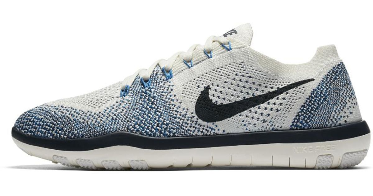 fc5ffd7a009ab ... usa lyst nike free focus flyknit 2 indigo womens training shoe in blue  fa6bd 3942e