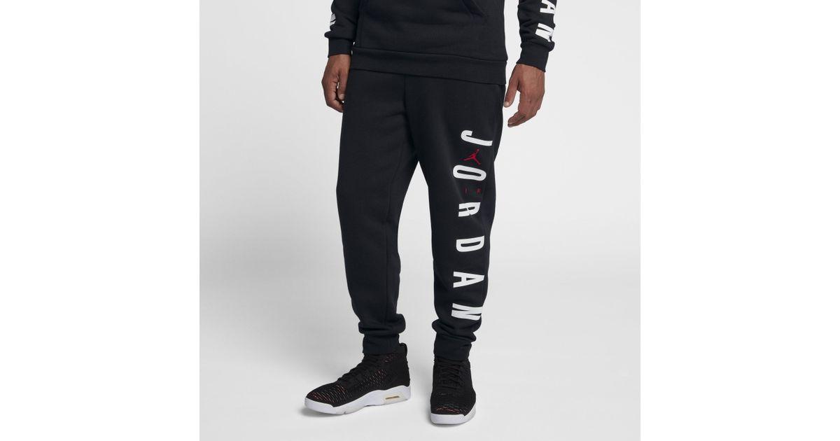 301dbc0c3a4d2b Nike Jordan Sportswear Jumpman Air Fleece Trousers in Black for Men - Lyst