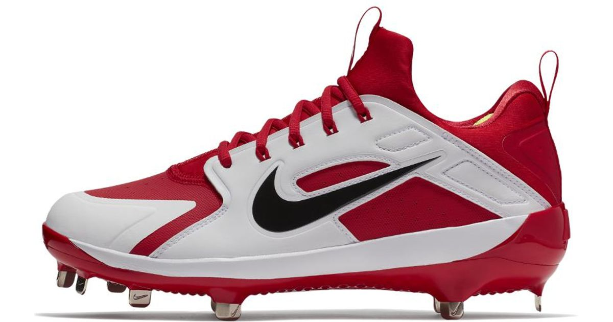 367700e2df14 Lyst - Nike Alpha Huarache Elite Low Men s Baseball Cleats in Red for Men