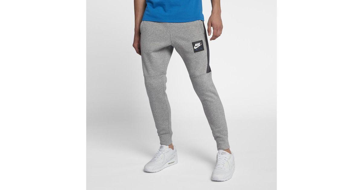 19a4193149cbb0 Nike Air Men's Fleece Joggers in Gray for Men - Lyst