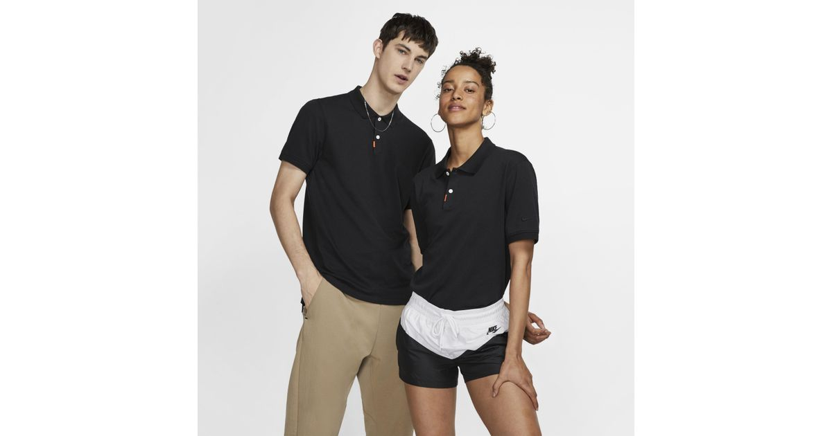 8efe151a Nike Polo Unisex Slim Fit Polo in Black for Men - Lyst
