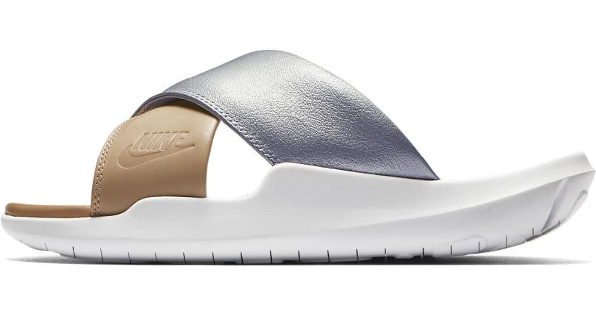 newest efc4c 18785 Nike Benassi Future Cross Se Premium Women's Slide in Metallic - Lyst