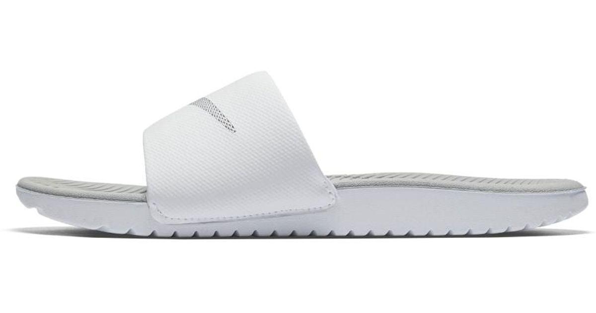 86d4f4e52 Lyst - Nike Kawa Women s Slide Sandal in White