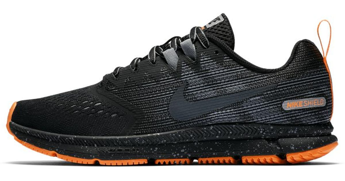 0a305efe3165 Lyst - Nike Air Zoom Span 2 Shield Men s Running Shoe in Black for Men